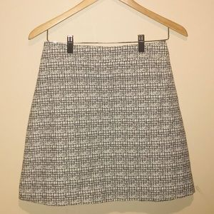 Express Black & White Skirt